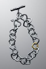 David Yurman Cable Heart Linked Heart Bracelet - Lyst