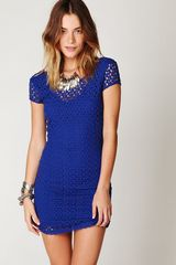 Free People Cap Sleeve Gypsy Lace Dress - Lyst