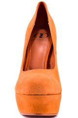Kelsi Dagger Abrielle  Orange Suede in Orange - Lyst