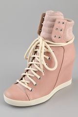 See By Chloé Lace Up Wedge Sneakers - Lyst