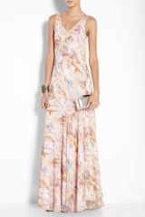 Theyskens' Theory Marble Print Maxi Dress in Pink - Lyst