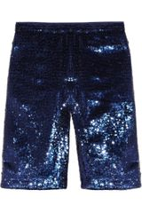 Adam Sequined Silk-chiffon Shorts - Lyst