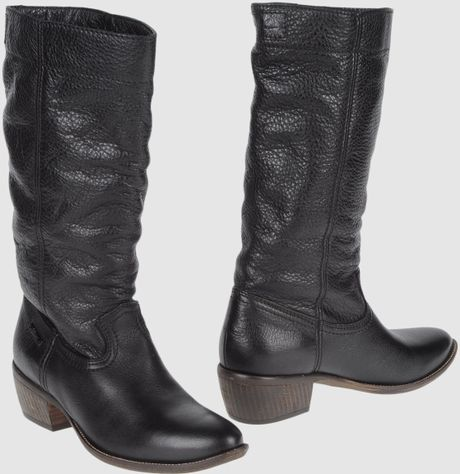 Diesel High Heeled Boots in Brown - Lyst