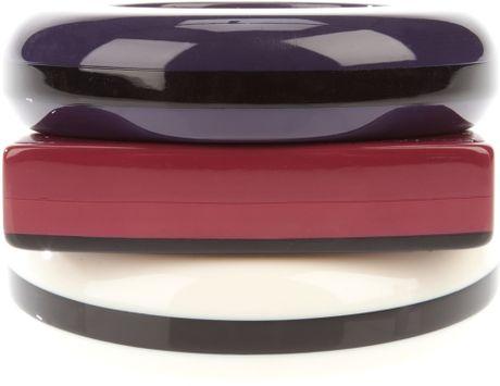 Guy Laroche Three Vintage Abstract Bracelets in Purple