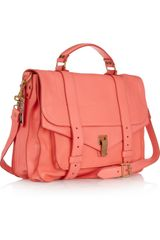 Proenza Schouler Ps1 Large Leather Satchel in Pink (coral) - Lyst