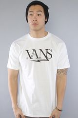 Vans The Shortwave Tee in White - Lyst