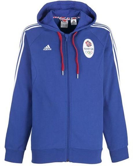 Adidas Team Gb Icon Mens Full Zip Hoodie Navy in Blue for ...