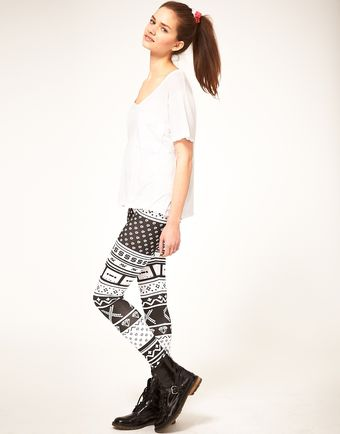 ASOS Collection Asos Leggings 90s Cassette Print - Lyst