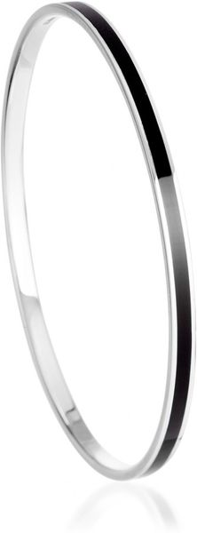 Astley Clarke London Nights Enamel Bangle (medium) in Black (silver) - Lyst