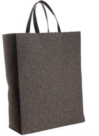 Celine Wool Shopping Tote - Lyst