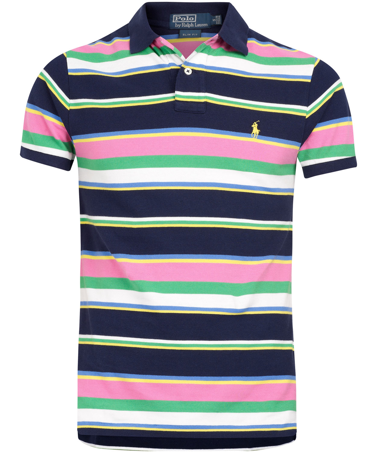 Lyst Polo Ralph Lauren Navy And Multi Stripe Polo Shirt In Blue