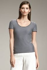 Armani Striped Tee - Lyst
