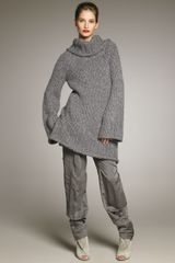 Donna Karan New York Oversized Knit Sweater - Lyst