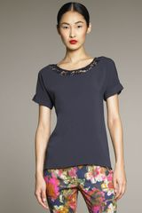 Erdem Norah Short-sleeve Top - Lyst