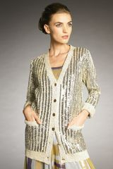 Lanvin Sequined Silk Cardigan