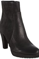 Prada  Brushed Leather Ankle Boots - Lyst