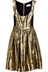 Adam Metallic Jacquard Dress - Lyst