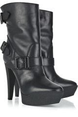 Burberry Shearling-lined Ankle Boots - Lyst