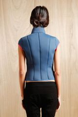 Goemai Womens Neoprene Jacinthe Sleeveless Jacket in Blue - Lyst
