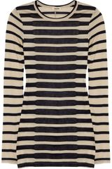 L'Agence Striped Fine-jersey Top - Lyst