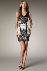 Mandalay Lace Two-tone Dress - Lyst
