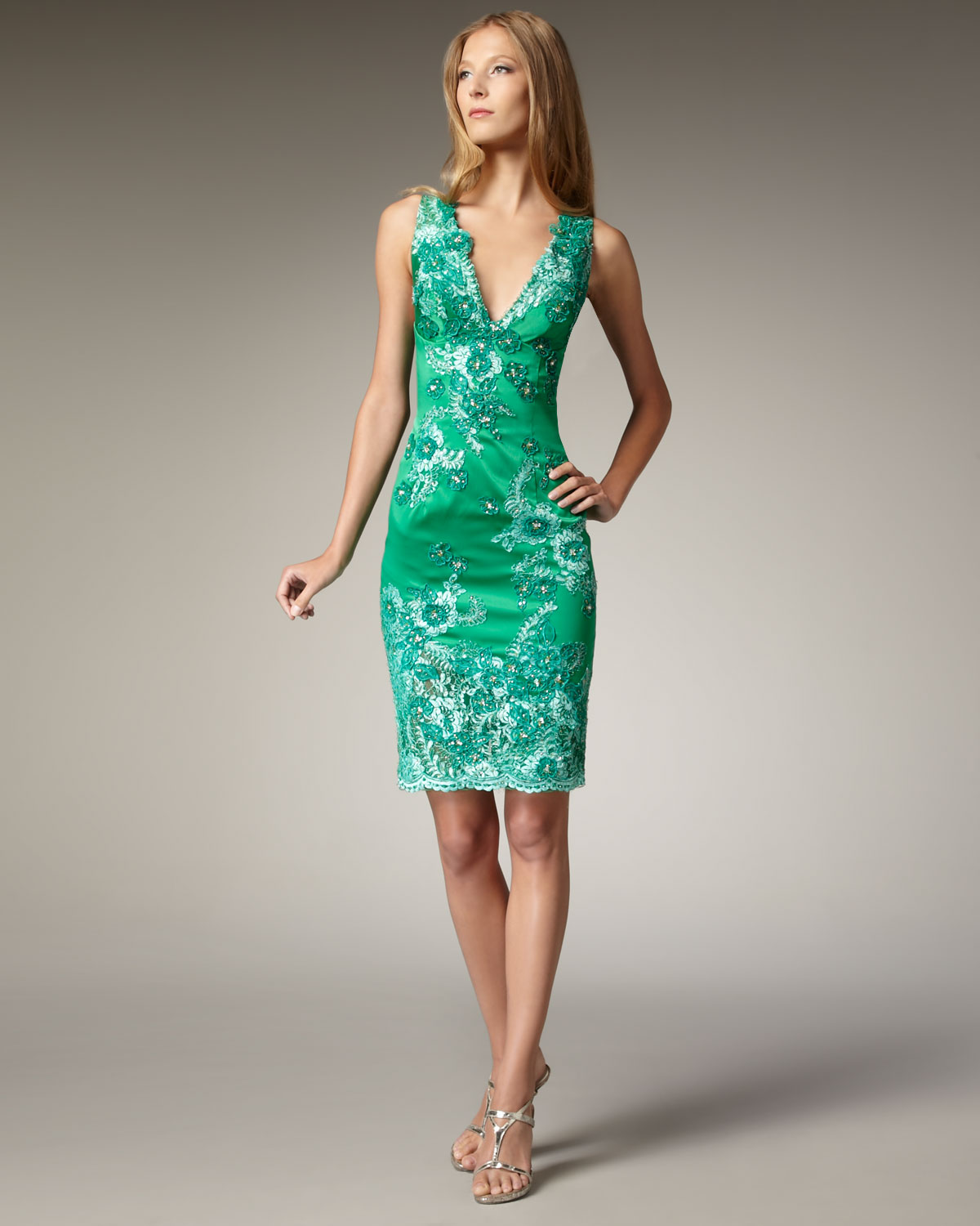 Lace kelly green dress