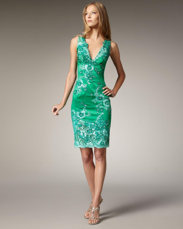 Lace kelly green dress