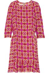 Marni Printed Hammered-silk Dress - Lyst
