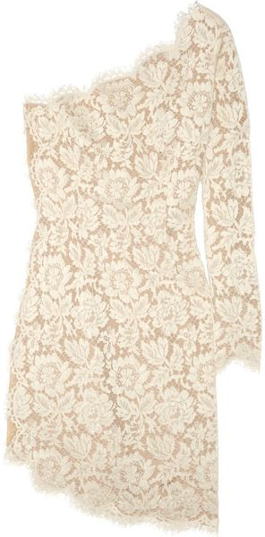 Stella McCartney Asymmetric Lace Dress - Lyst