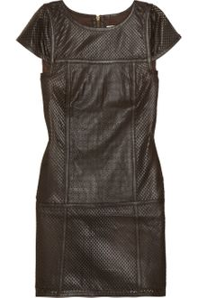 Tibi Perforated Leather Dress - Lyst