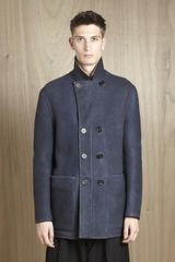 Balenciaga Mens Shearling Coat
