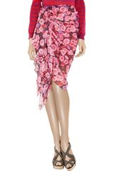 Jason Wu Printed Silkchiffon Skirt in Pink - Lyst