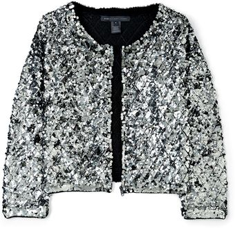 Marc By Marc Jacobs Black Tela Sequin Crop Jacket - Lyst
