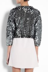 Marc By Marc Jacobs Black Tela Sequin Crop Jacket in Silver (black) - Lyst