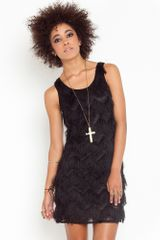 Nasty Gal Eyelash Fringe Dress  - Lyst