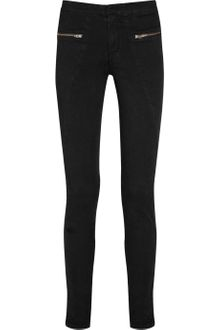 Rag & Bone Zip-detailed Stretch-cotton Skinny Pants - Lyst