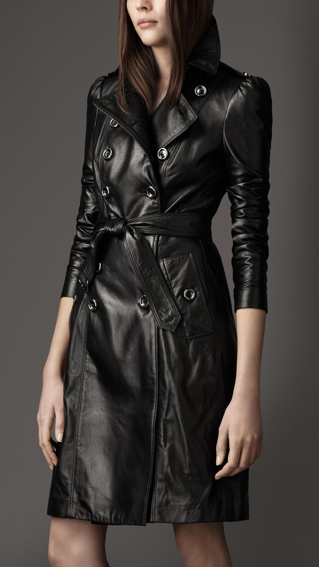 shopping top-rated fashion really cheap Burberry Black Leather Trench Coat