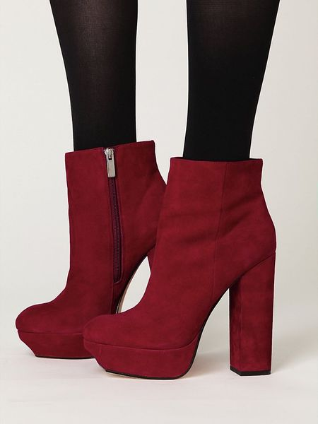 free leigh platform ankle boot in wine lyst