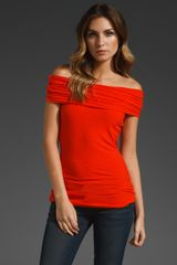 James Perse Off The Shoulder Top - Lyst