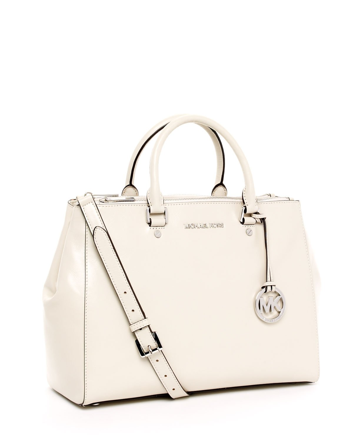 f8334d505213a5 ... cheap lyst michael kors large bedford dressy tote vanilla in white  63a96 49268