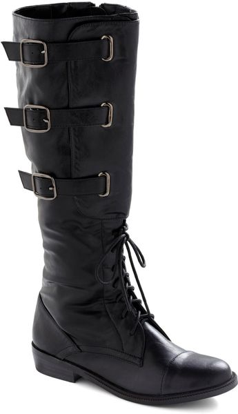 Modcloth Stepping Up Your Style Boot in Black - Lyst