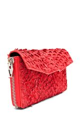 Alexander Wang Quillon Long Compact Perch Wallet in Persimmon in Red - Lyst