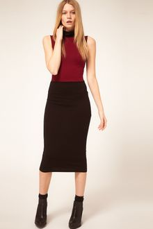 ASOS Collection Asos Midi Bodycon Colour Block Polo - Lyst