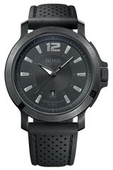 Boss Black Round Rubber Strap Watch - Lyst