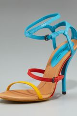 Bottega Veneta Colorblock Strappy Sandal - Lyst