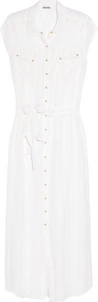 Charlie By Matthew Zink Silkgeorgette Maxi Dress in White - Lyst