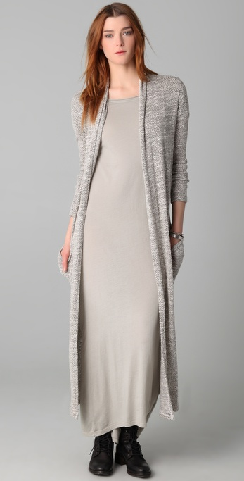 Lyst Daftbird Long Cardigan Sweater In Natural
