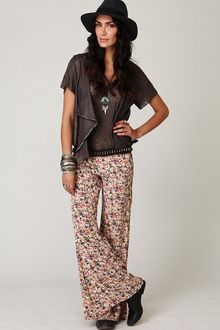 Free People Fp One Floral Fields Wideleg Pant - Lyst