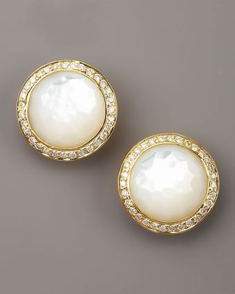 Ippolita Mother-of-pearl Diamond Earrings - Lyst
