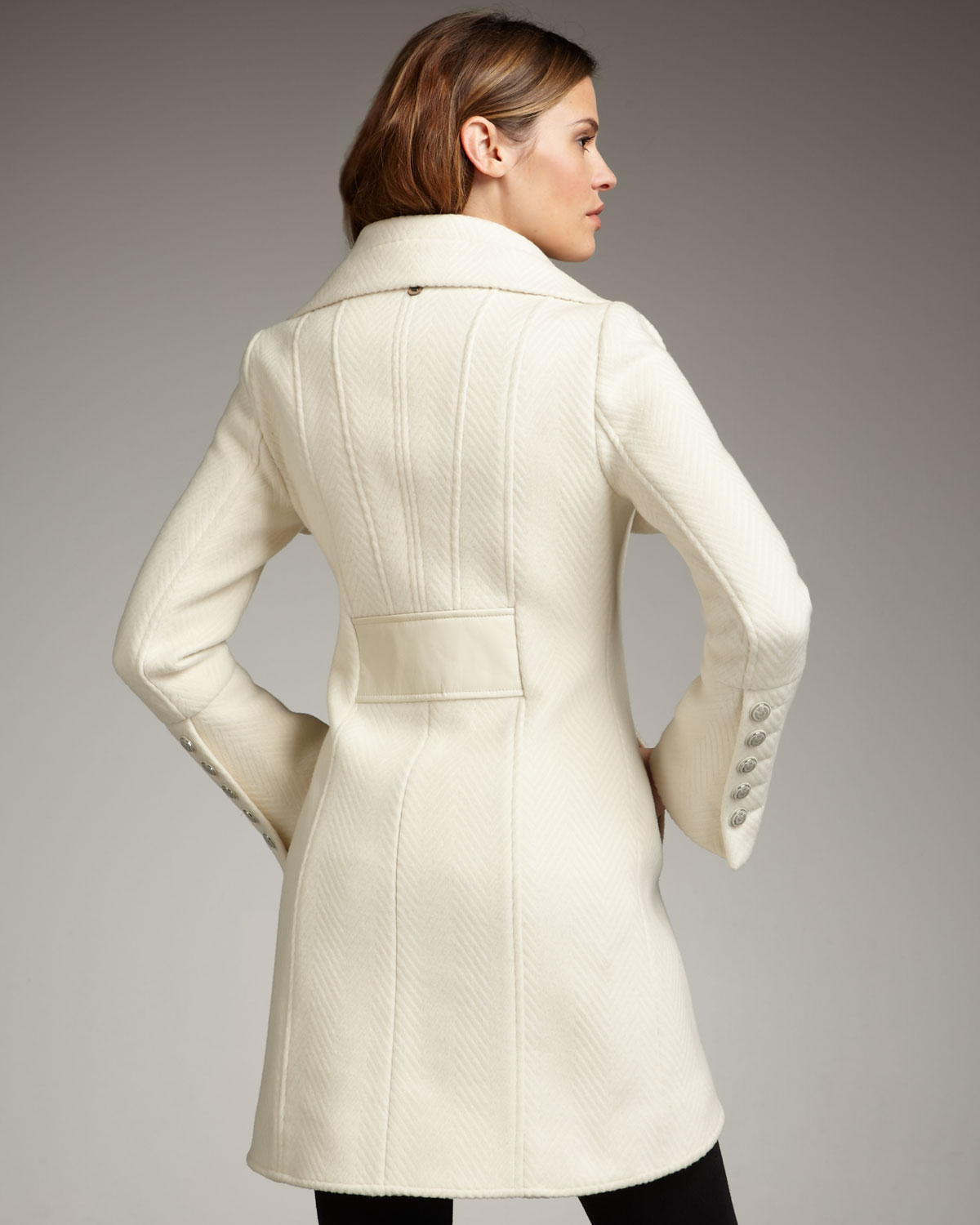 Mackage Diana Wool Coat in White | Lyst